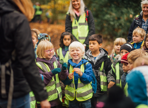 Outdoor education for schools, photo by Helena Dolby for Sheffield & Rotherham Wildlife Trust