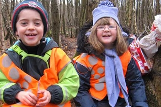 Forest school children