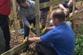 Volunteers repairing fences in Medway