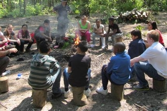 Forest school bonfire