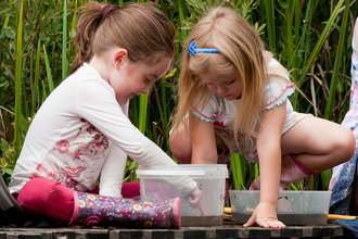 Girls pond dipping