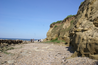 Cliffs and beach at Reculver