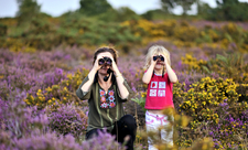 Exploring heathland, photo by David Tipling/2020VISION