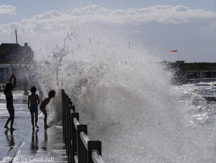 Carol Jull's photograph of children enjoying the waves
