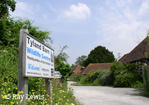 Entrance to the KWT's Tyland Barn HQ