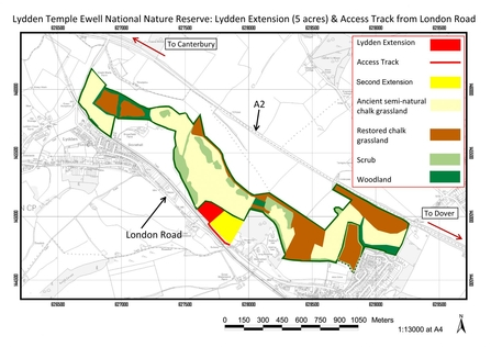 Map Lydden Temple Ewell Extension Appeal