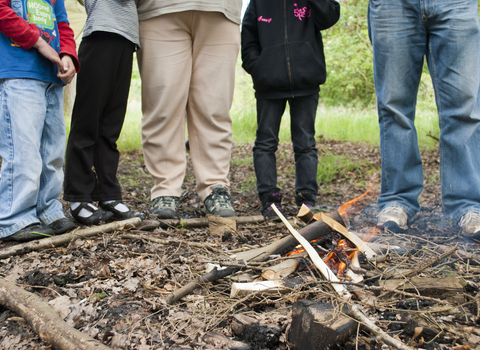 Bushcraft day campfire, photo by Katrina Martin/2020VISION