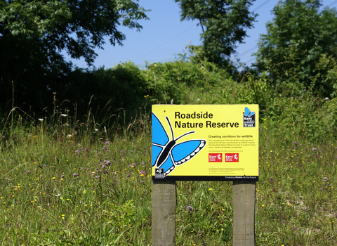 Roadside Nature Reserve Sign